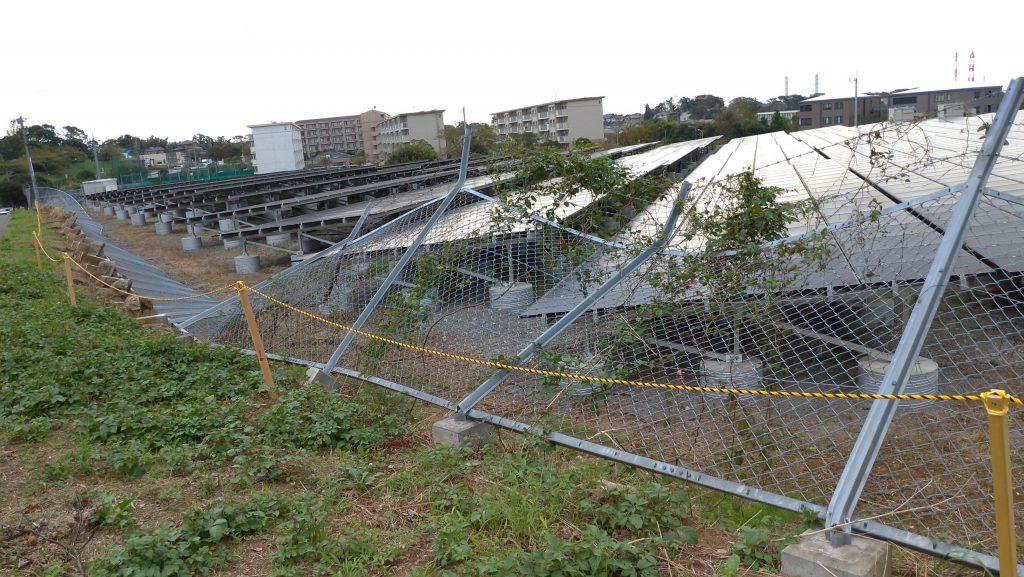 自然災害による太陽光パネルの破損